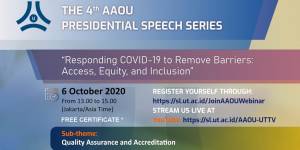 The 4<sup>th</sup> AAOU Presidential Speech Series Webinar