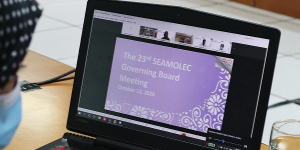 Read more about the article รองศาสตราจารย์ ดร.ปราณี สังขะตะวรรธน์ เข้าร่วมประชุม SEAMOLEC Governing Board Meeting