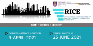 International Virtual Symposium on Research, Industry and Community Engagement
