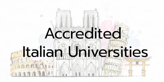 You are currently viewing รายชื่อสถาบันอุดมศึกษาอิตาลีที่ได้รับรองวิทยฐานะจากรัฐบาลอิตาลี